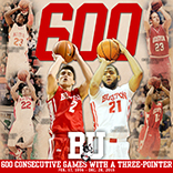 Boston University Men's Basketball 3-Pointer Instagram Graphic