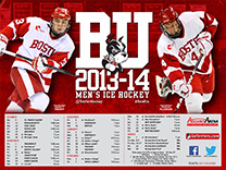 2013-14 Boston University Men's Ice Hockey Schedule Poster