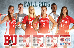 2015 Boston University Fall Sports Schedule Poster