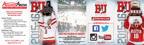 2015-16 Boston University Men's & Women's Ice Hockey Schedule Cards