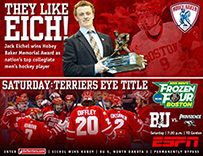 2015 Boston University Men's Ice Hockey Splash Page