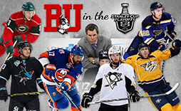 Boston University NHL Players Graphic